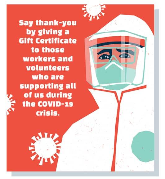 Cartoon Medical Worker in PPE Gear