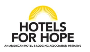 Hotels for Hope Logo with yellow sun